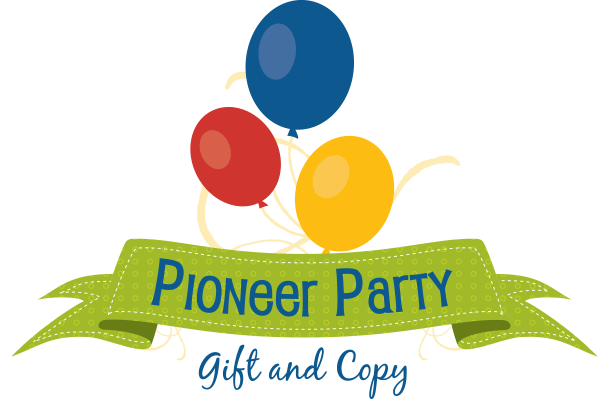 Logo for Pioneer Party Gift and Copy